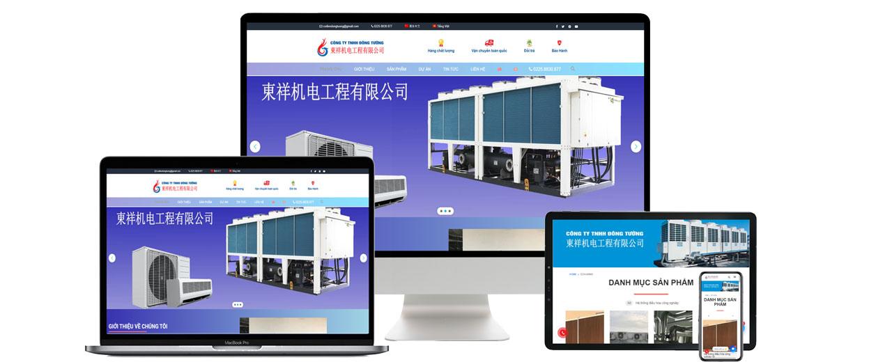 Thiết kế website công ty cơ điện Đông Tường