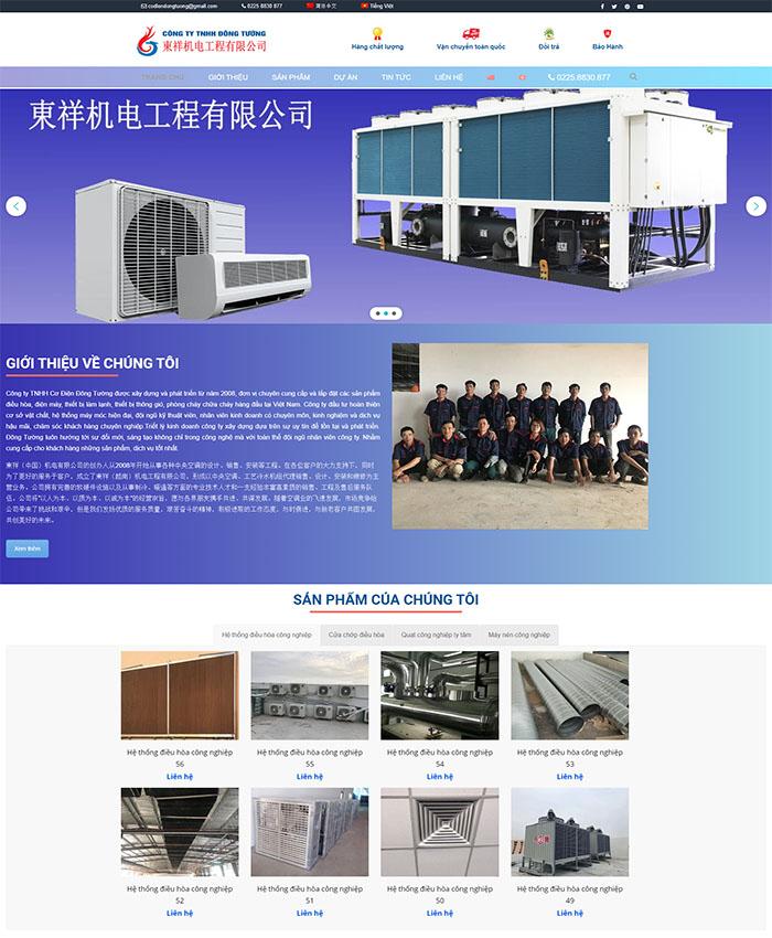 Thiết kế web công ty Cơ điện Đông Tường
