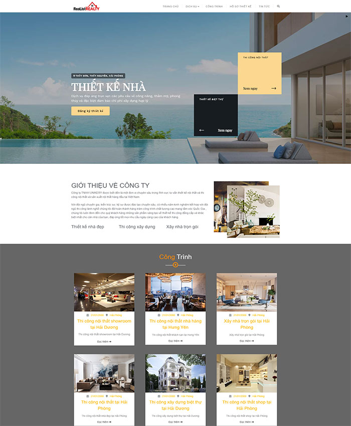 Mẫu website nội thất đẹp 01
