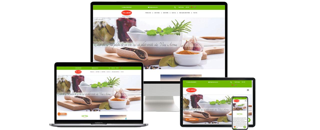 Thiết kế website theo yêu cầu công ty vnaroma