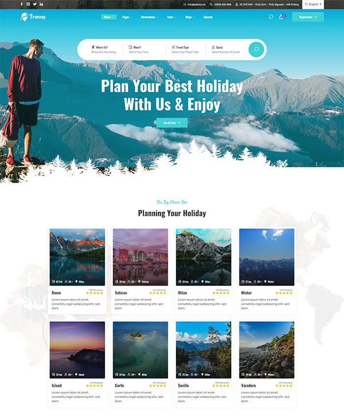 Thiết kế web du lịch 05