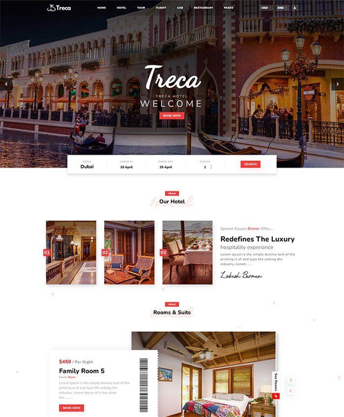Thiết kế mẫu web du lịch 01