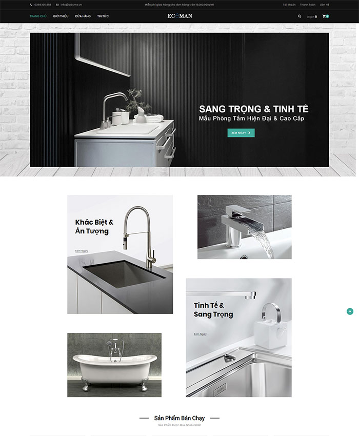 Mẫu website thiết bị vệ sinh 01