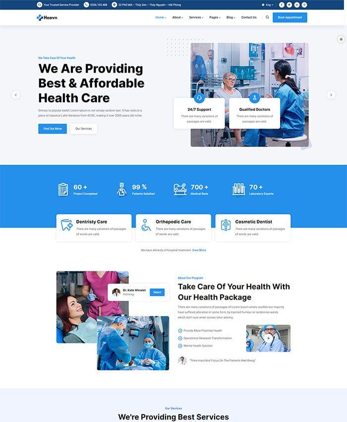 Mẫu website bán hàng mỹ phẩm 01