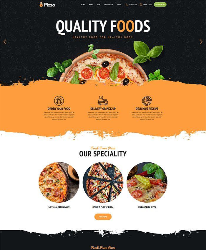 Thiết kế web nhà hàng 01