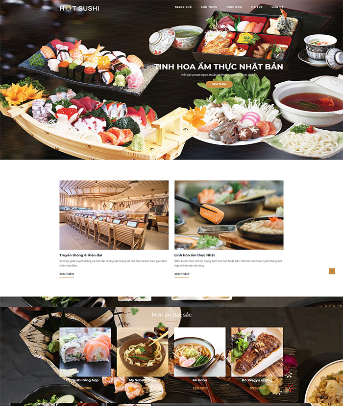 Mẫu web nhà hàng sushi đẹp 03