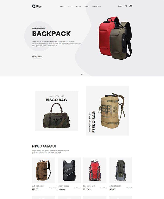 Mẫu website bán hàng thời trang 01