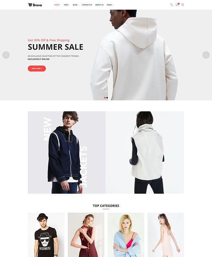 Mẫu web bán hàng thời trang quần áo 01