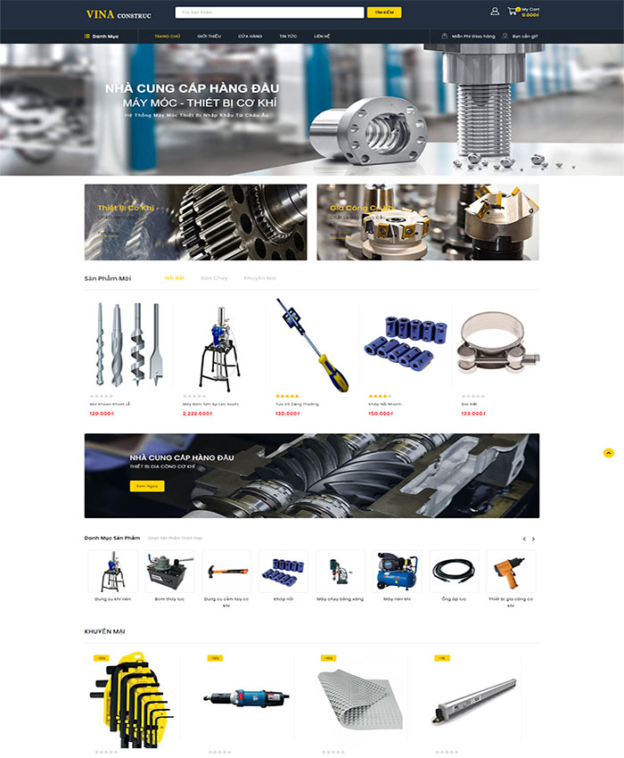Mẫu web vật liệu xây dựng 01