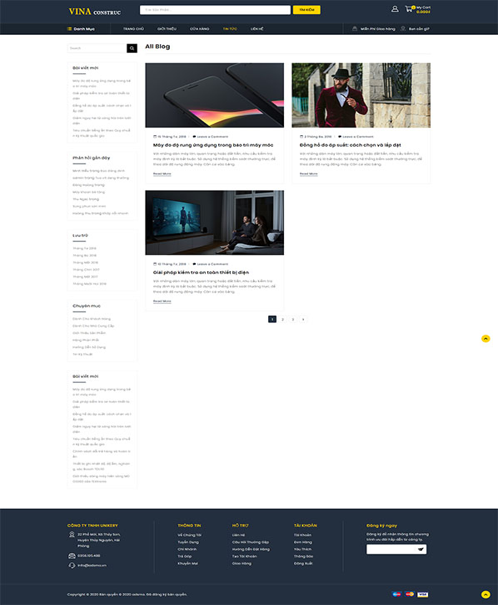 Mẫu web vật liệu xây dựng 04