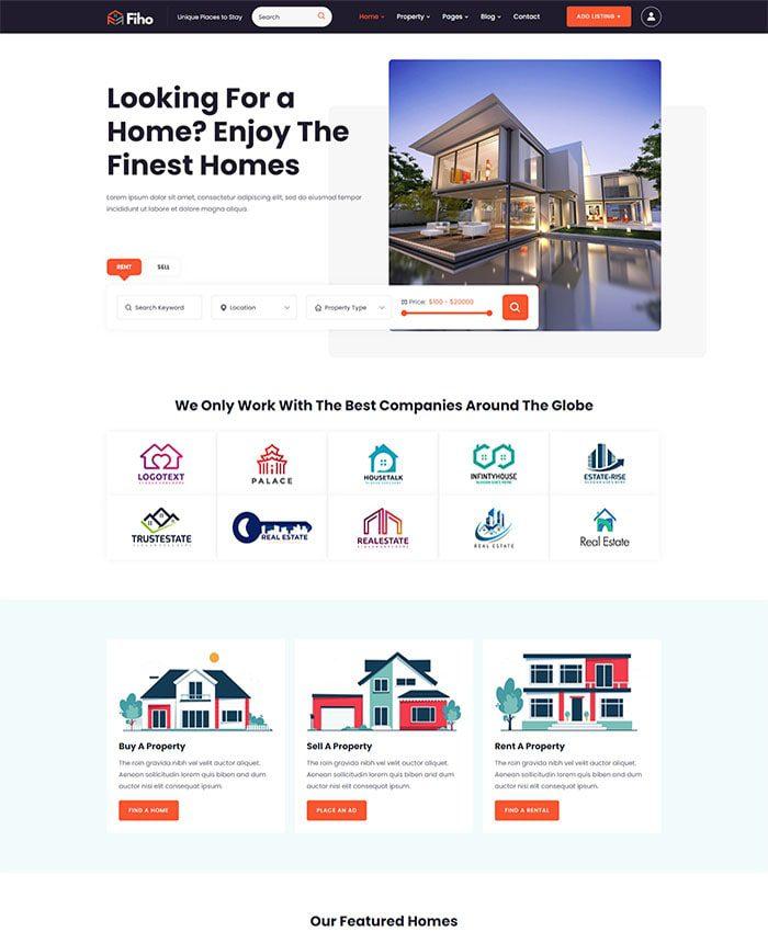 Mẫu website bất động sản đẹp 01