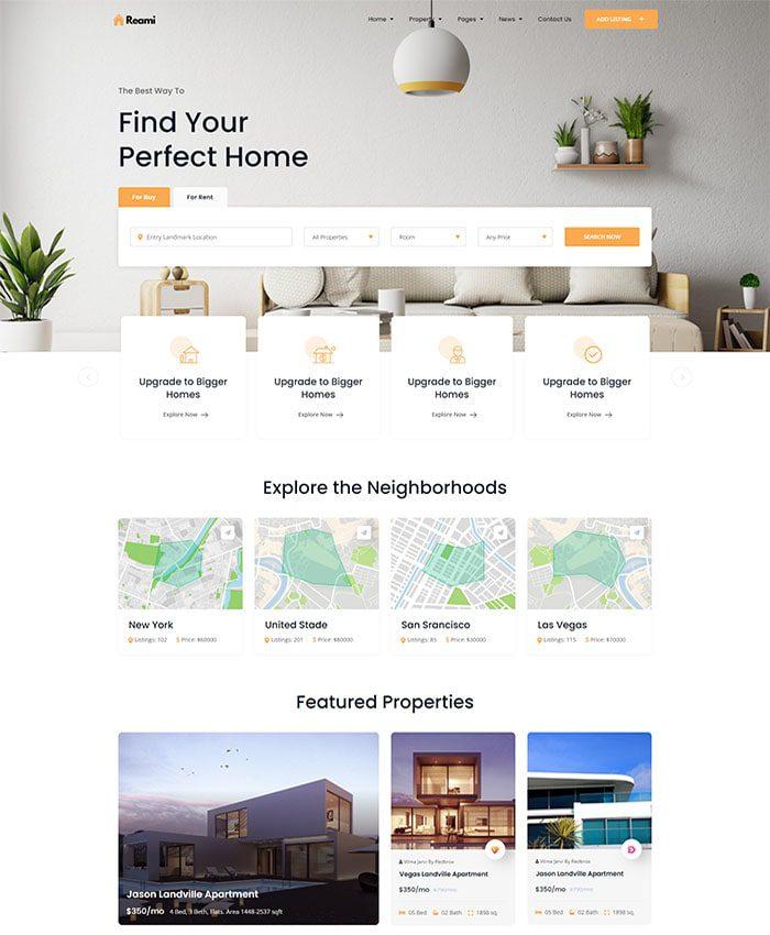Thiết kế website bất động sản 01