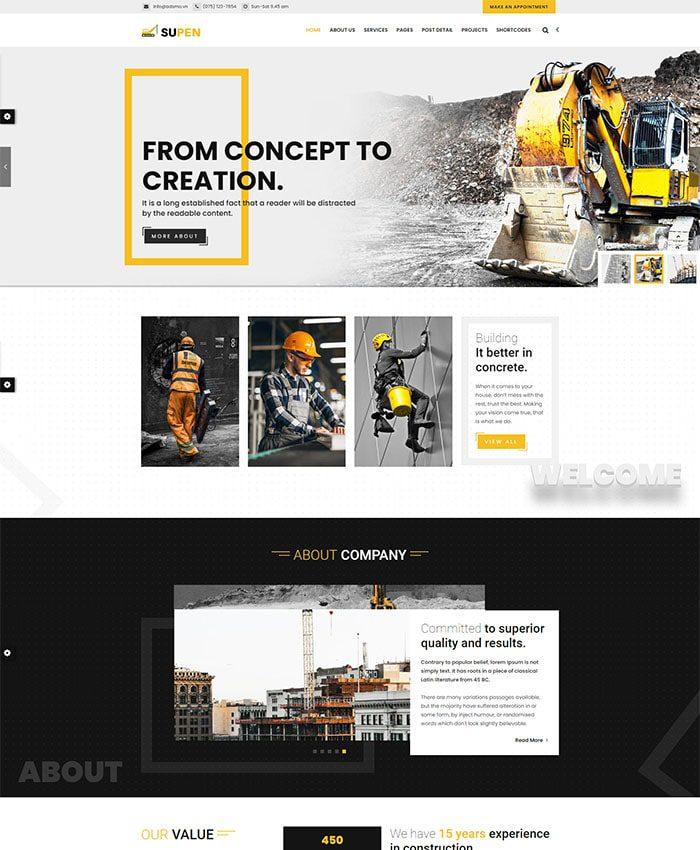 Thiết kế website dịch vụ vận tải logistics 01