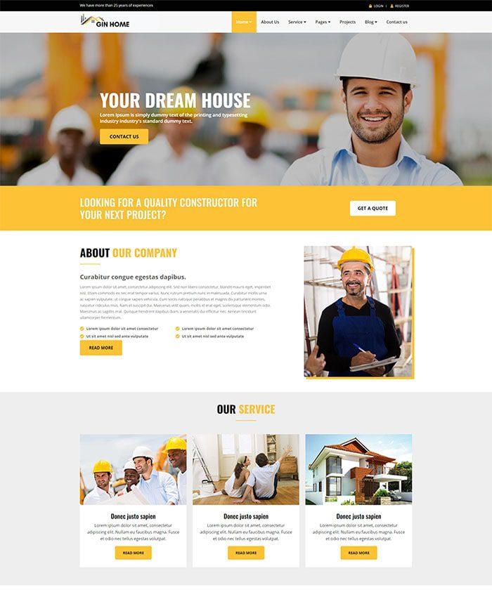 Website doanh nghiệp vật liệu xây dựng 01