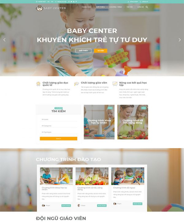 Website trường mầm non 01