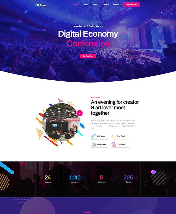 Website tổ chức sự kiện chuyên nghiệp 04