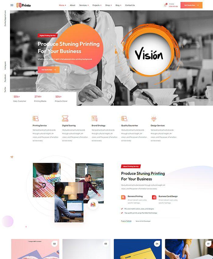 Mẫu website Marketing hiện đại 01
