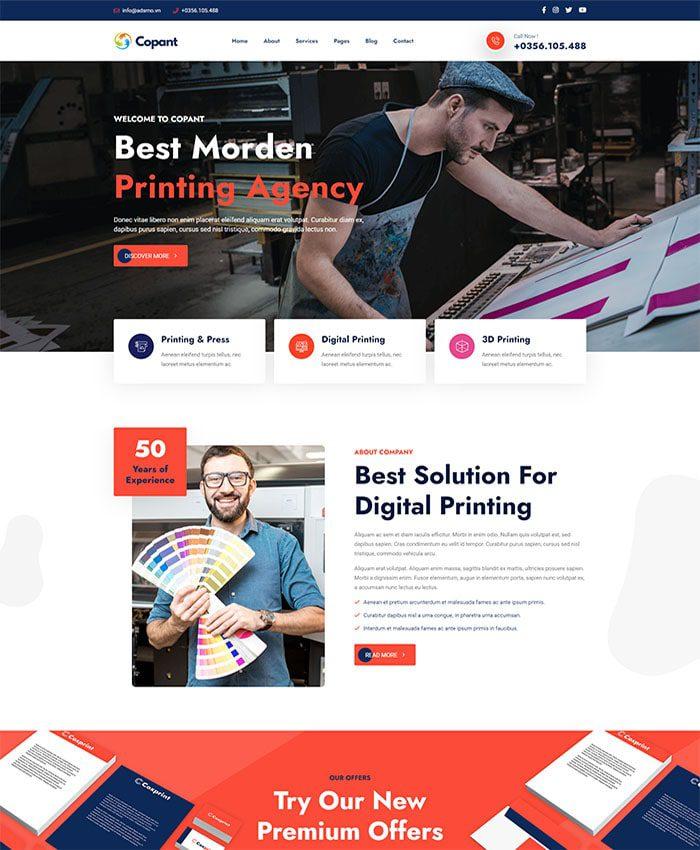 Thiết kế website Marketing 01