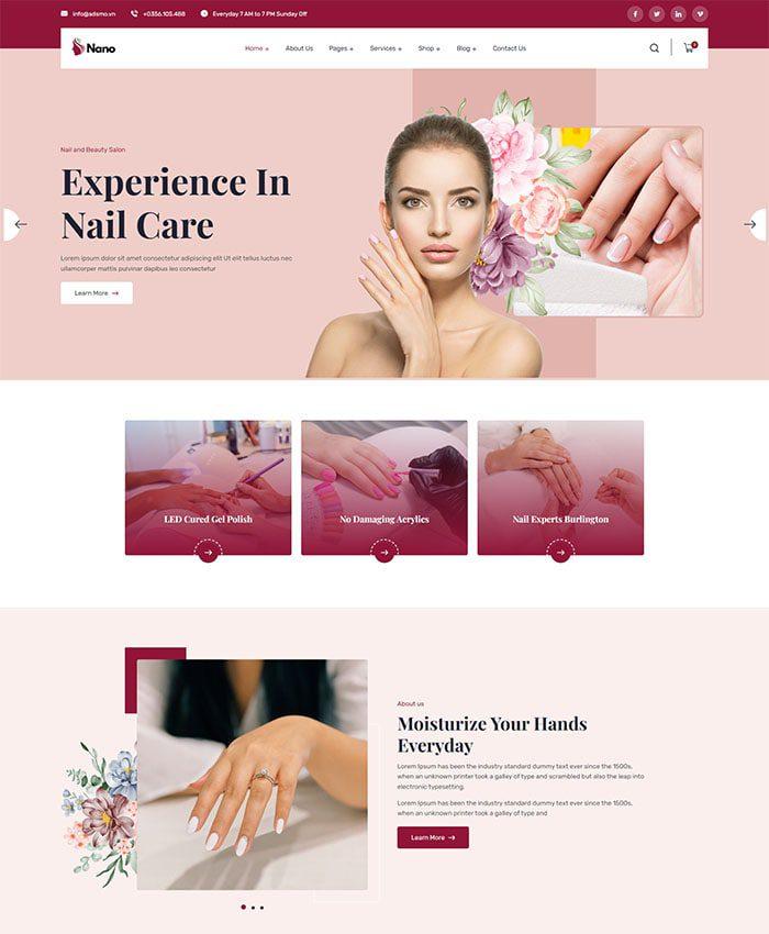 Mẫu website spa đẹp 01