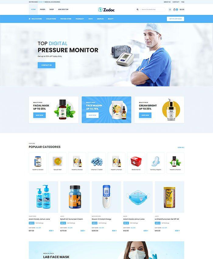 Thiết kế website phòng khám đẹp 01
