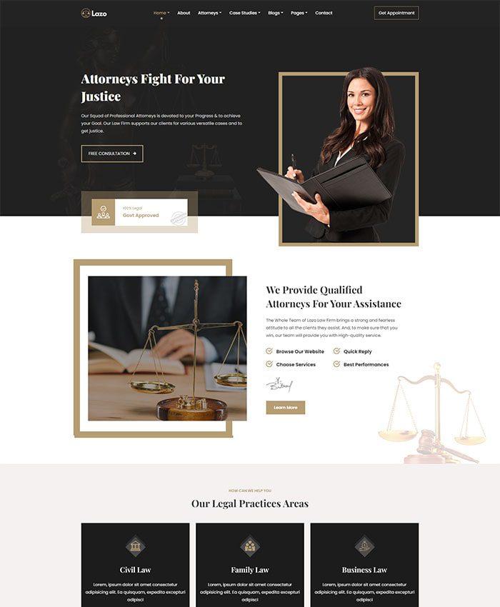 Mẫu website công ty luật 01