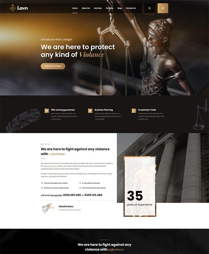 Mẫu web công ty luật đẹp 01
