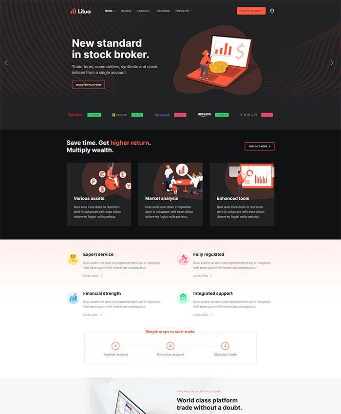 Thiết kế web tài chính 01