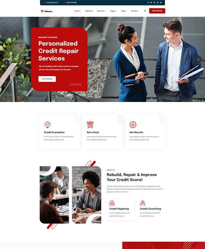 Mẫu web tài chính 01