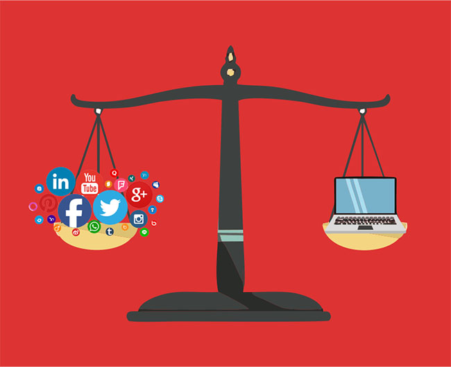 Cuộc chiến giữa website và social media 01