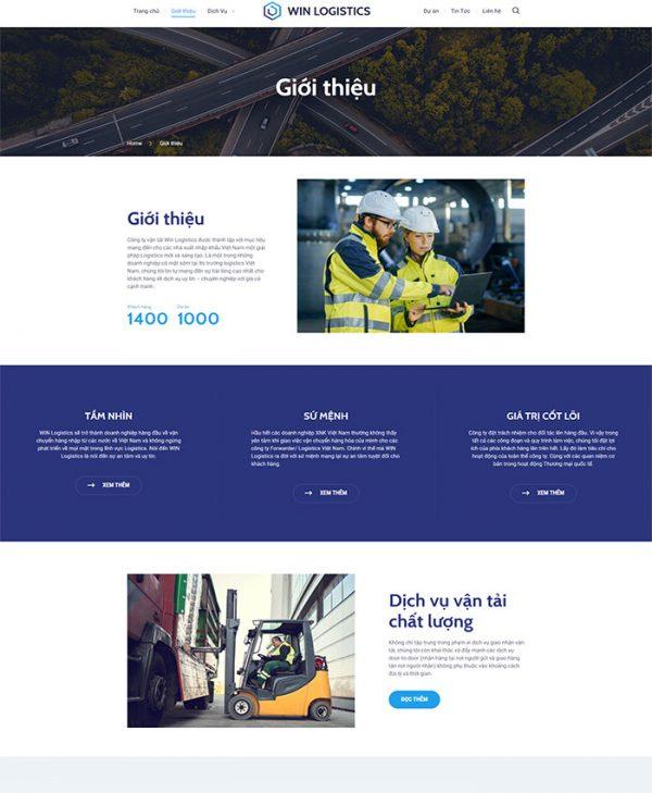 Thiết kế website vận tải, logistics 02