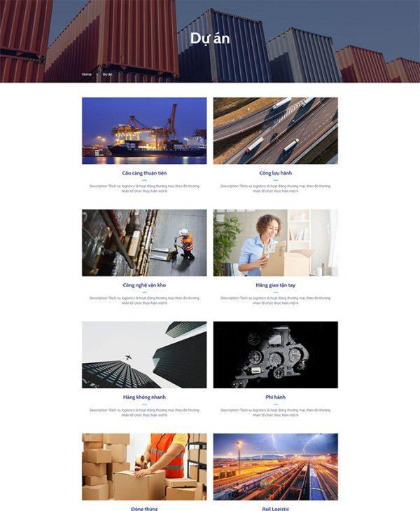 Thiết kế website vận tải, logistics 03