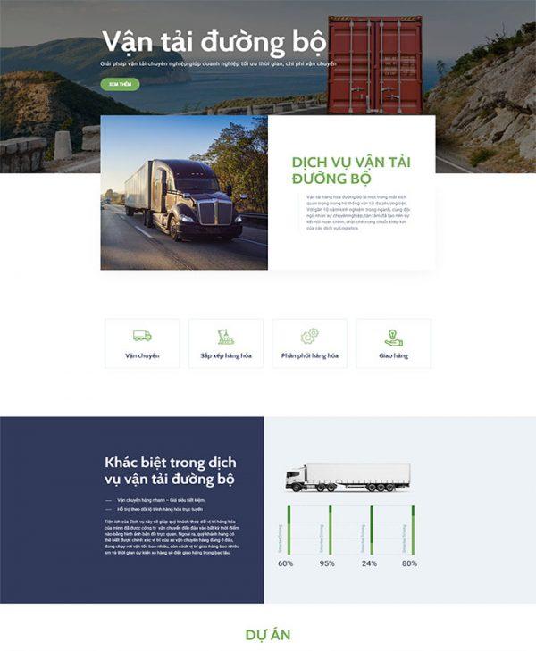 Thiết kế website vận tải, logistics 04