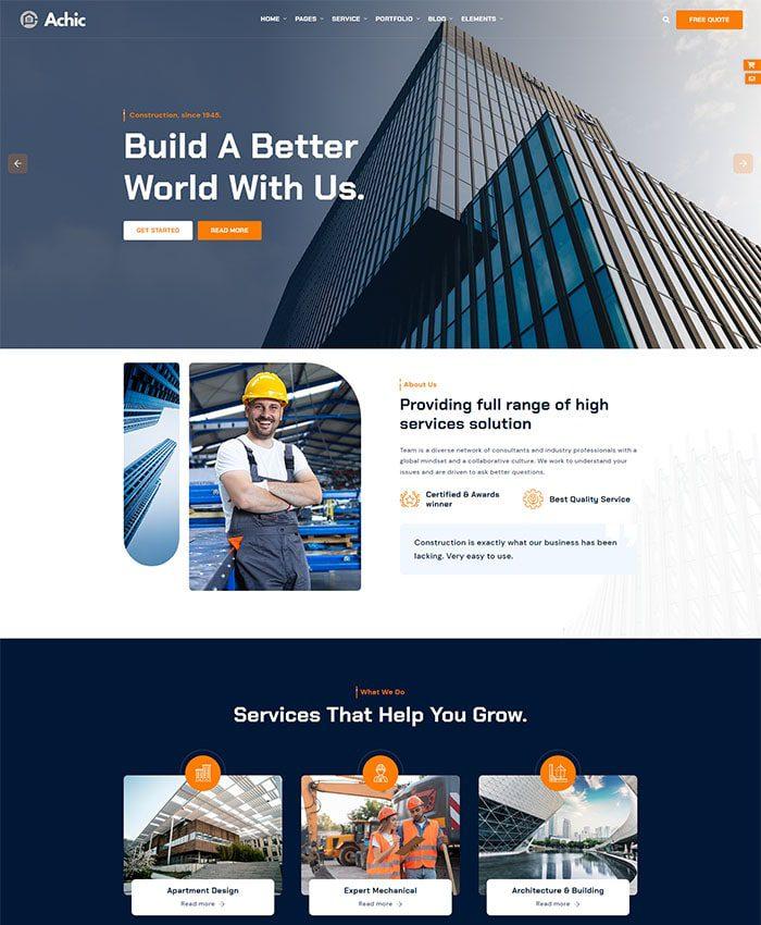 Thiết kế website xây dựng đẹp 01