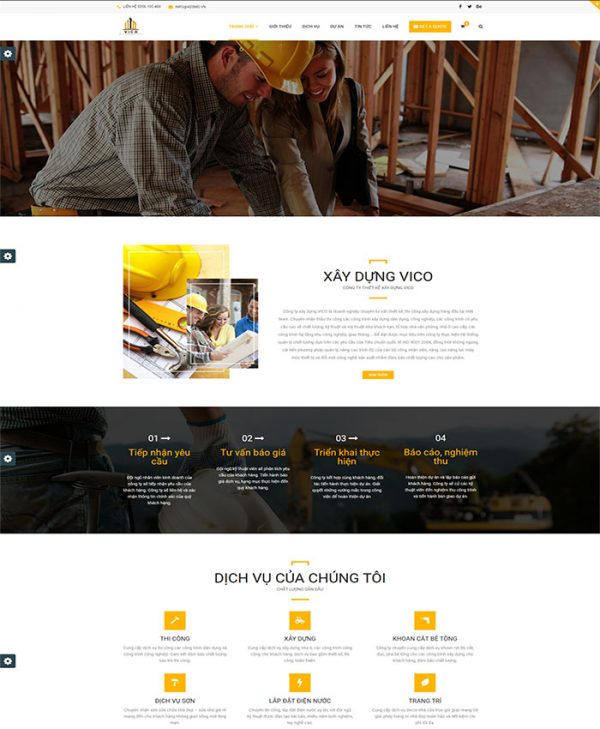 Thiết kế website xây dựng 01