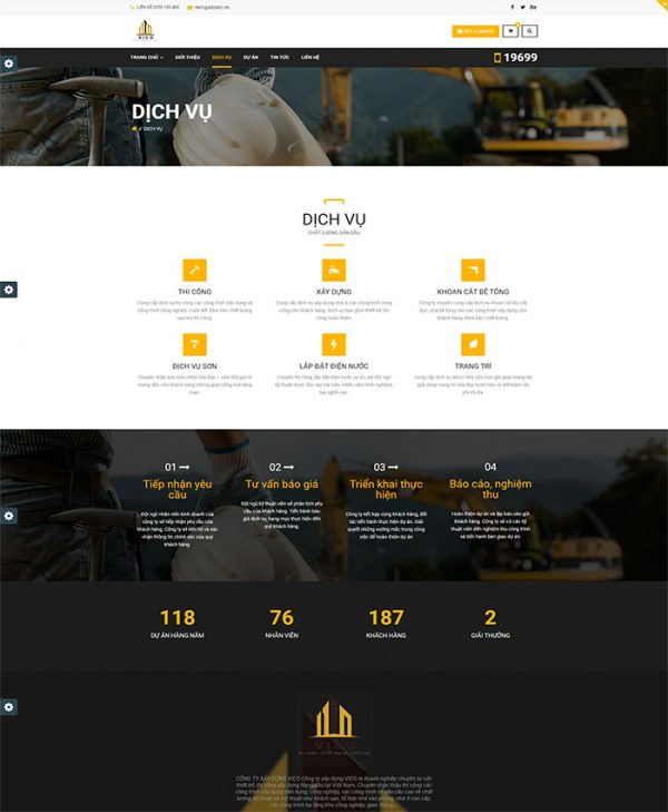 Thiết kế website xây dựng 03
