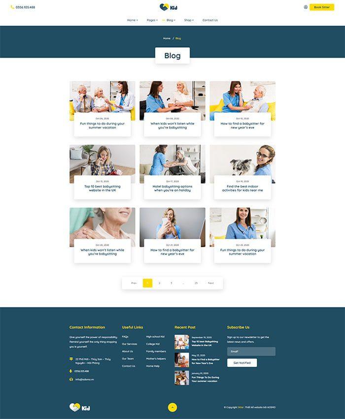 Thiết kế web bán hàng trẻ em đẹp