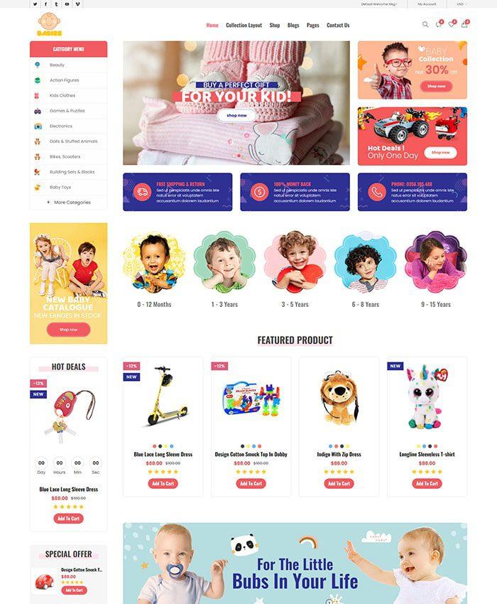 Thiết kế web bán đồ trẻ em, mẹ và bé