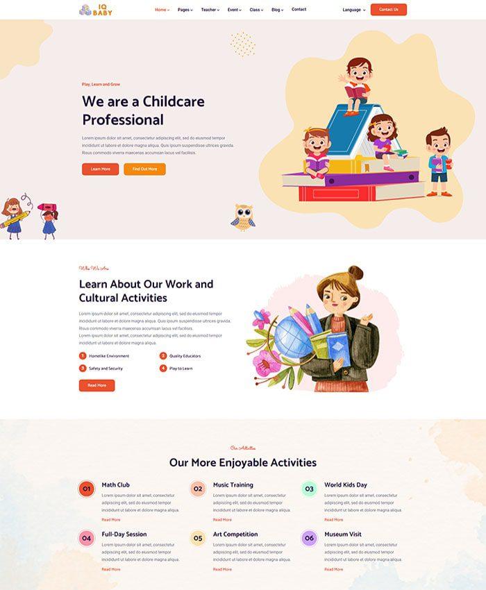 Mẫu web bán hàng trẻ em đẹp