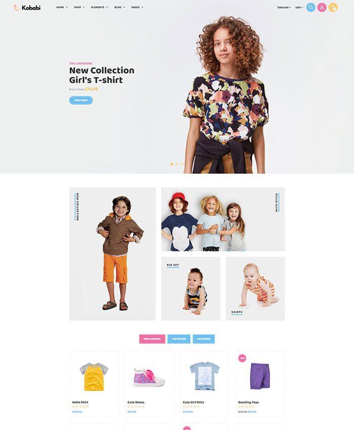 Thiết kế website bán đồ cho trẻ em