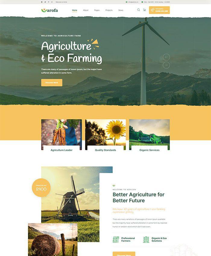 Thiết kế website thực phẩm hữu cơ 01
