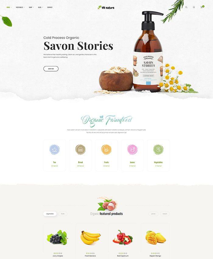 Thiết kế website bán thực phẩm, hoa quả nhập khẩu 01