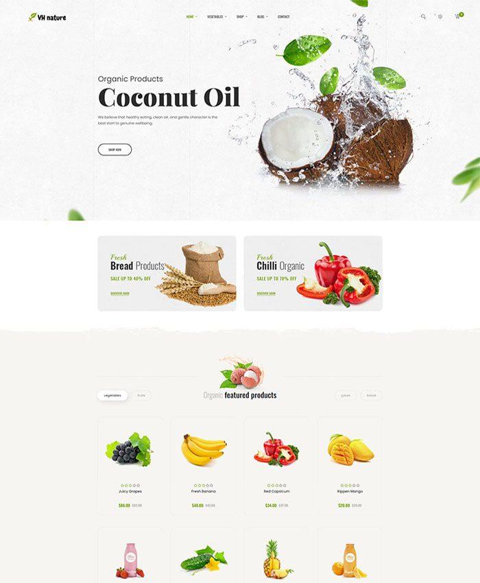 Thiết kế website bán thực phẩm, hoa quả nhập khẩu 02