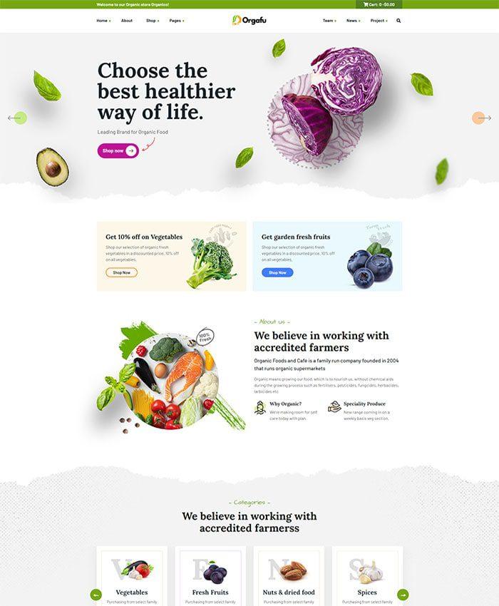 Thiết kế website chế biến thực phẩm