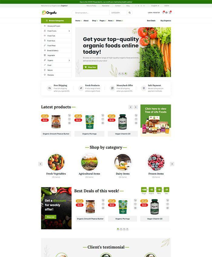 Thiết kế website chế biến thực phẩm 02