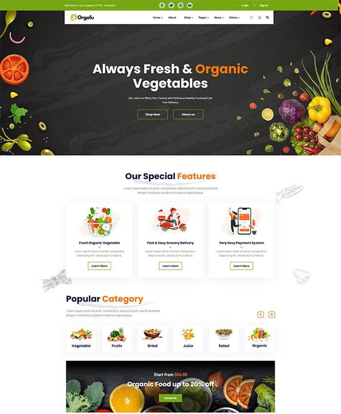 Thiết kế website chế biến thực phẩm 03