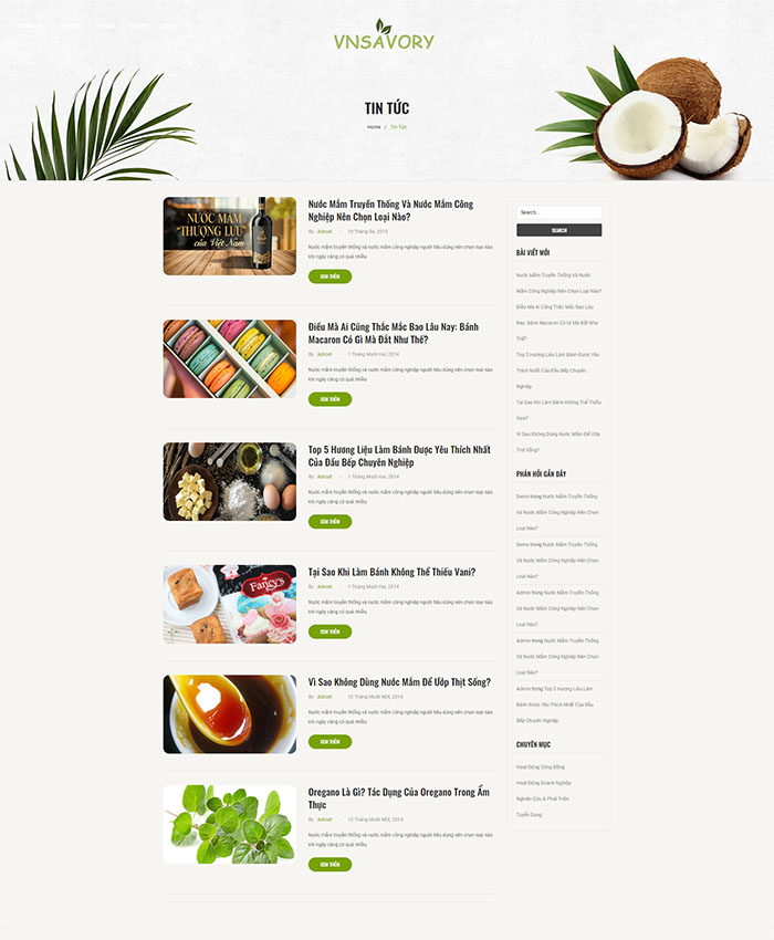Thiết kế website chế biến thực phẩm 04