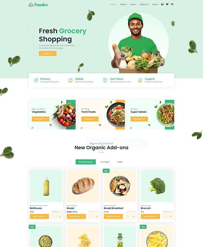 Mẫu web công ty sản xuất, chế biến thực phẩm 01