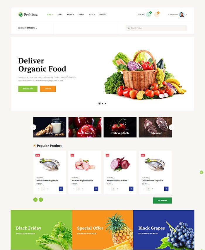 Thiết kế web công ty sản xuất chế biến thực phẩm 01