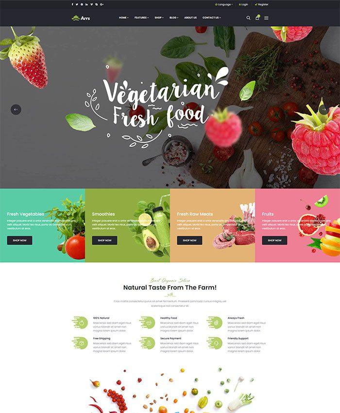 Mẫu website doanh nghiệp sản xuất & chế biến thực phẩm 02