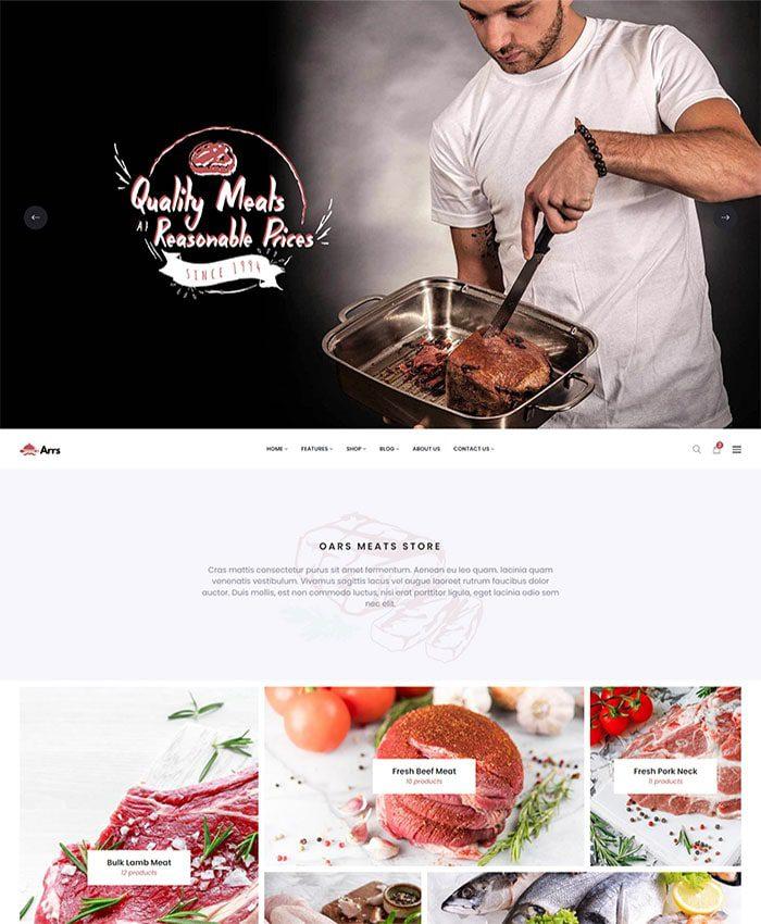 Mẫu website doanh nghiệp sản xuất & chế biến thực phẩm 03